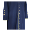 Navy Cassock with Gold Trim