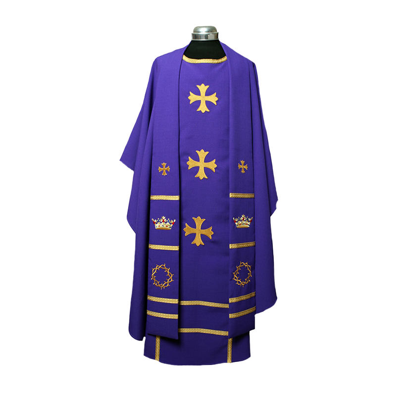Chasuble & Stole Crown of Glory, Crown of Thorns